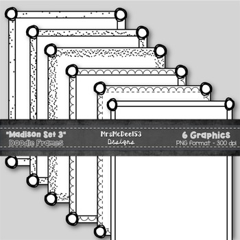 Scrappy Border Clipart Frames - Vector Graphics - {Madison Set 3}