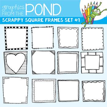 Doodle Frames {Scrappy Square Frames Set #1)