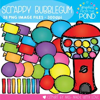 Scrappy Bubblegum Clipart Set