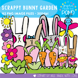 Scrappy Bunny Garden Clipart for Teachers and Teaching