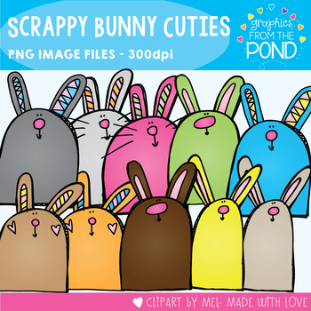 Scrappy Bunny Cuties Clipart