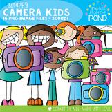 Scrappy Camera Kid Clipart