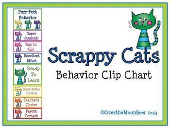 Scrappy Cats Behavior Clip Chart