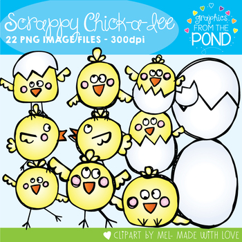 Chick Clipart - Scrappy Chick-a-Dee Clip Art Set