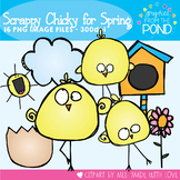Chick Clipart - Scrappy Chicks for Spring