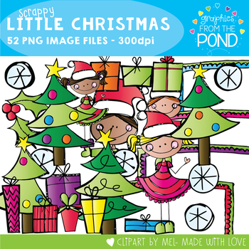 Scrappy Little Christmas -  Clipart for Teaching Resources