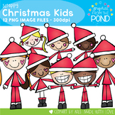 Scrappy Christmas Kids Clipart