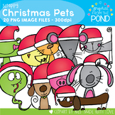Scrappy Christmas Pets Clipart