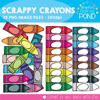 Scrappy Crayons Clipart
