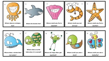 Scrappy Creature WH Question Flash Cards