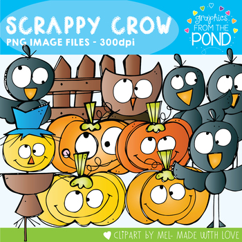Scrappy Crow Clipart