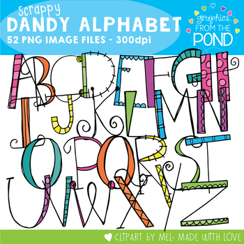 Scrappy Dandy Letters Clipart