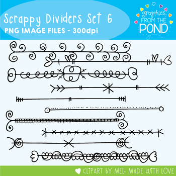 Scrappy Dividers Set 6