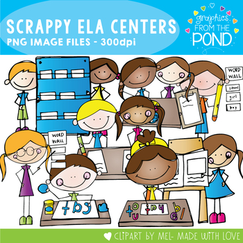 Scrappy ELA Center Kids Clipart