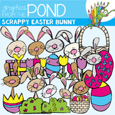 Scrappy Easter Bunny - Clipart for Teachers and Teaching