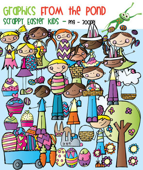 Scrappy Easter Kids - Clipart for Teachers and Teaching