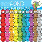 Scrappy Face Super Pack - Clipart Set
