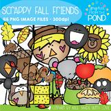 Scrappy Fall Friends Clipart Set