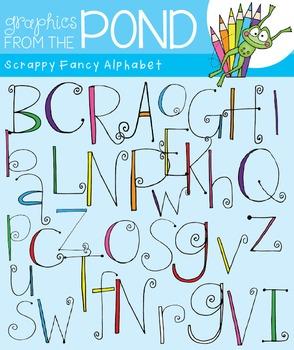 Scrappy Fancy Alphabet Clipart Set