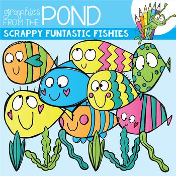 Scrappy Funtastic Fishies Clipart
