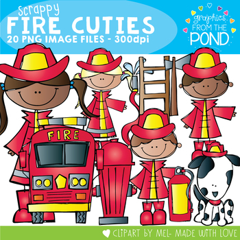 Scrappy Fire Cuties Clipart