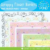 Scrappy Flower Borders