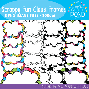Scrappy Fun Cloud Frames