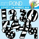 Scrappy Fun Numbers - Black and White Edition