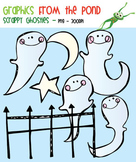 Scrappy Ghosties -  Clipart for Teaching Resources