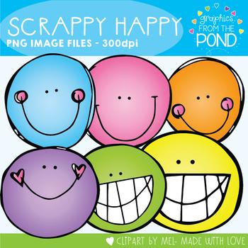 Scrappy Happy Clipart Set