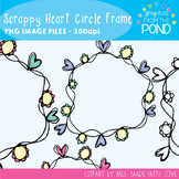 Scrappy Heart Flower Circle Frames