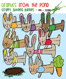 Scrappy Jumping Bunnies Clipart