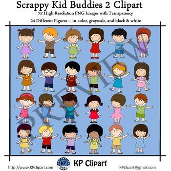 Scrappy Kid Buddies 2 Clipart