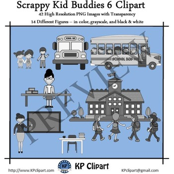 Scrappy Kid Buddies 6 Back To School Clipart