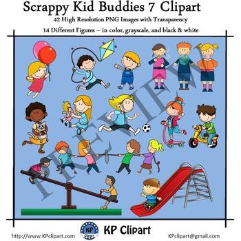 Scrappy Kid Buddies 7 Playground & Recess Clipart
