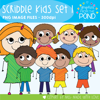 Scribble Kids - Clipart for Teaching