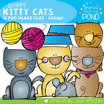 Scrappy Kitty Cat - Clipart / Graphics From the Pond