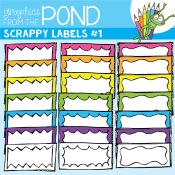 Scrappy Labels - Clipart for Teachers