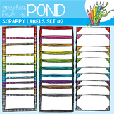 Scrappy Labels Set #2 - Clipart for Teachers