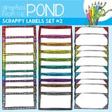 Scrappy Labels Set #2 - Clipart for Teachers