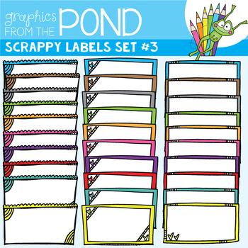 Scrappy Labels Set #3 - Clipart for Teachers