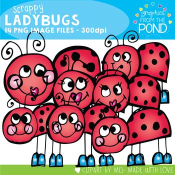 Scrappy Ladybugs Clip Art
