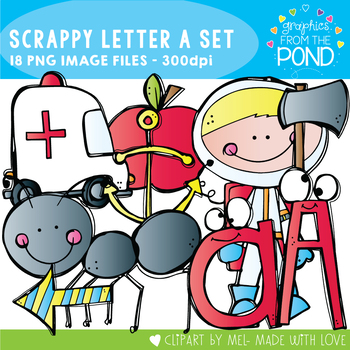 Scrappy Letter A Clipart