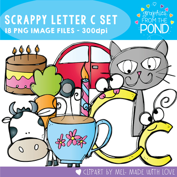 Scrappy Letter C Clipart