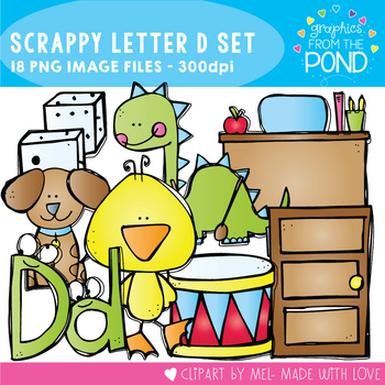 Scrappy Letter D Clipart
