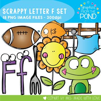 Scrappy Letter F Clipart