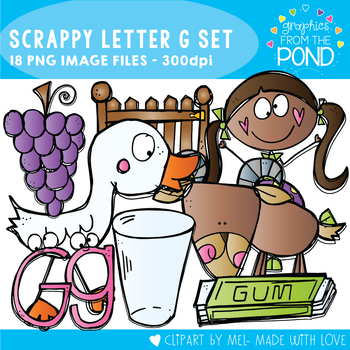 Scrappy Letter G Clipart