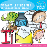 Scrappy Letter I Clipart