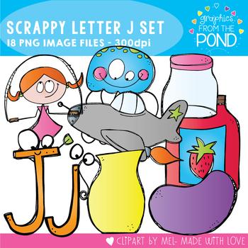 Scrappy Letter J Clipart