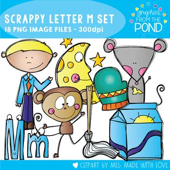 Scrappy Letter M Clipart